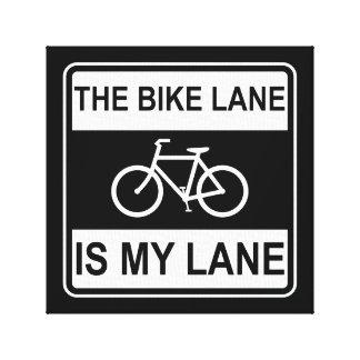 The Bike Lane Sign Canvas Print