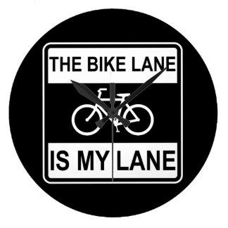 The Bike Lane Sign Wallclock
