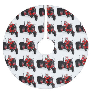 The Biker Santa Clause Brushed Polyester Tree Skirt