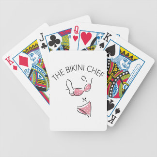 The Bikini Chef Logo Poker Deck