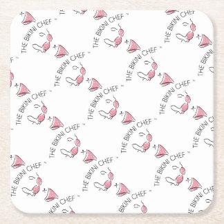 The Bikini Chef Party Set Square Paper Coaster