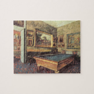 The Billiard Room at Menil Hubert by Edgar Degas Jigsaw Puzzle