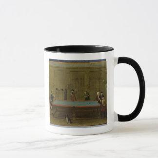 The Billiard Room (oil on canvas) Mug