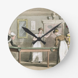 The Billiard Table, from 'The Tour of Dr Syntax in Wall Clock