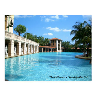 The Biltmore Hotel Swimming Pool - Coral Gables FL Postcard