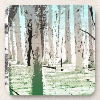 The Birch Forest Beverage Coasters