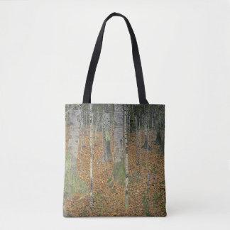 The Birch Wood by Gustav Klimt Tote Bag