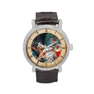The Bird Catchers François Boucher rococo scene Wristwatch