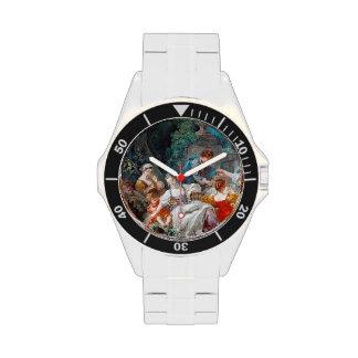 The Bird Catchers François Boucher rococo scene Wristwatches