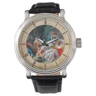 The Bird Catchers François Boucher rococo scene Wrist Watches