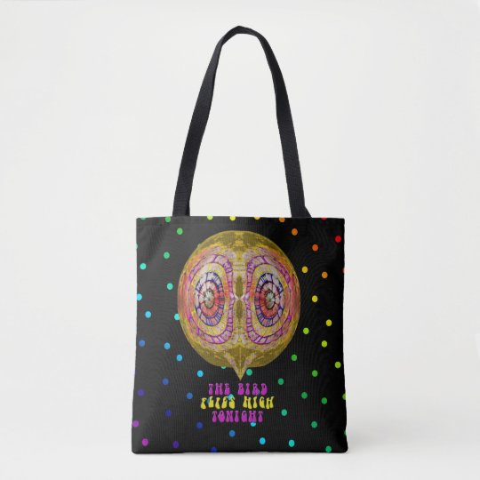 The Bird Flies High Tonight Tote Bag