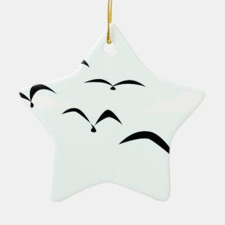 The Birds Ceramic Star Ornament