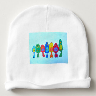 The birds on the wire baby beanie