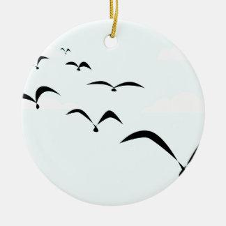 The Birds Round Ceramic Ornament