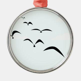 The Birds Silver-Colored Round Ornament