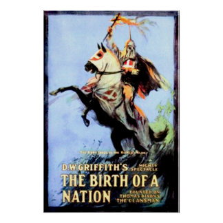 The Birth of a Nation Vintage Movie Poster 1915