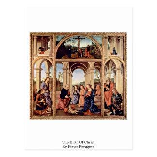 The Birth Of Christ By Pietro Perugino Postcard
