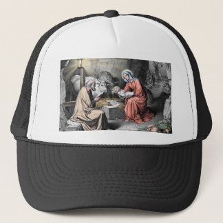 The birth of Christ Trucker Hat