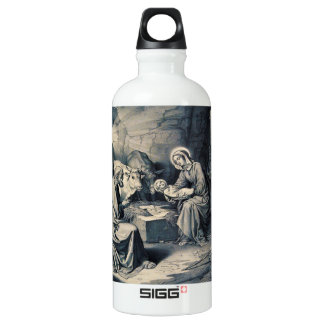 The birth of Christ Water Bottle