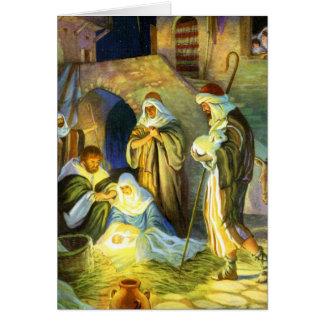 The birth of Jesus Christmas Card