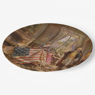 The Birth of Old Glory Paper Plate