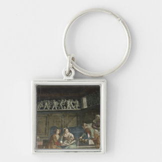 The Birth of the Virgin 1485-90 Keychain