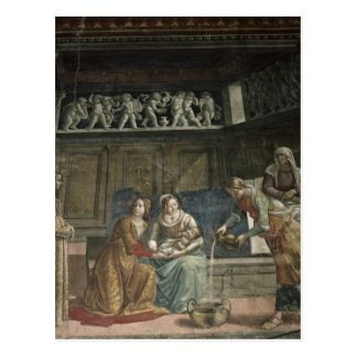 The Birth of the Virgin, 1485-90 Postcard