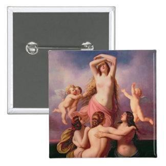 The Birth of Venus, 1846 2 Inch Square Button