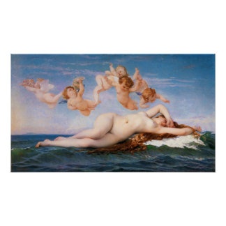 The Birth of Venus by Alexandre Cabanel from 1863 Poster