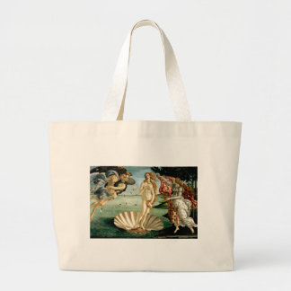 The Birth of Venus by Botticelli Large Tote Bag