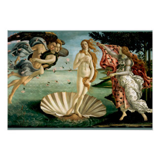 The Birth of Venus by Botticelli Poster