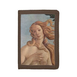 The Birth of Venus by Botticelli, Renaissance Art Tri-fold Wallet