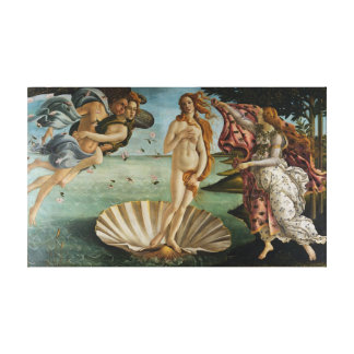 The Birth Of Venus (by Sandro Botiicelli) Canvas Print