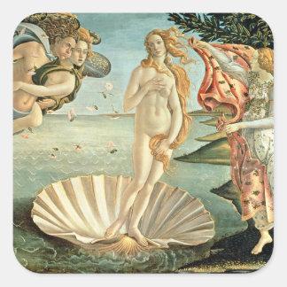 The Birth of Venus, c.1485 (tempera on canvas) Square Sticker