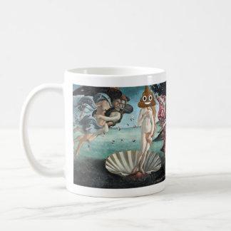 The Birth of Venus with Happy Poop (Left handed) Coffee Mug