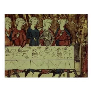 The Birthday Feast of Nubien, King of Armenia Postcard