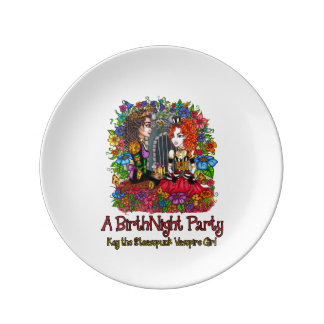 """The BirthNight Party 8"""" Plate Porcelain Plate"""