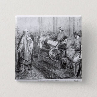 The Bishop of Salisbury before Saladin 2 Inch Square Button