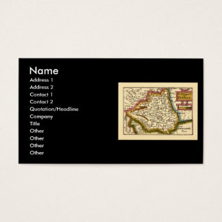 The Bishopprick of Durham County Map, England Business Card