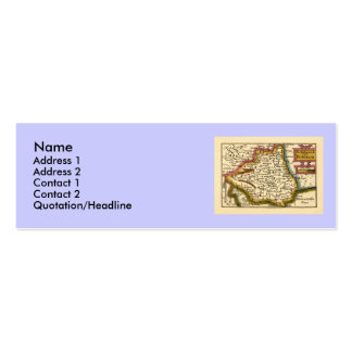 The Bishopprick of Durham County Map, England Business Card Template
