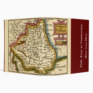 The Bishopprick of Durham County Map, England Vinyl Binder