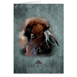 The Bison - Notecard