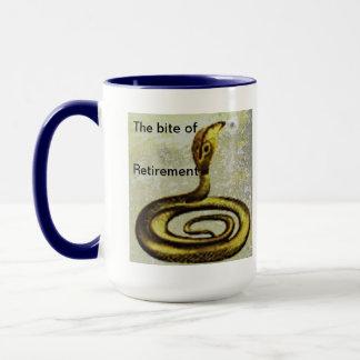 The bite of retirement mug