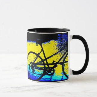 The Black and Blue Commuter Bicycle Mug