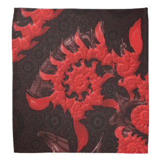 The Black and Red Spiral Kiss of a Scorpion Bandana
