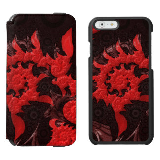 The Black and Red Spiral Kiss of a Scorpion Incipio Watson™ iPhone 6 Wallet Case
