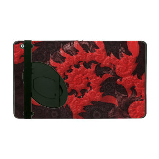 The Black and Red Spiral Kiss of a Scorpion iPad Case