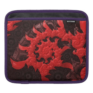 The Black and Red Spiral Kiss of a Scorpion iPad Sleeve