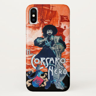 THE BLACK CORSAIR /Pirate Ship Battle In Red Case-Mate iPhone Case