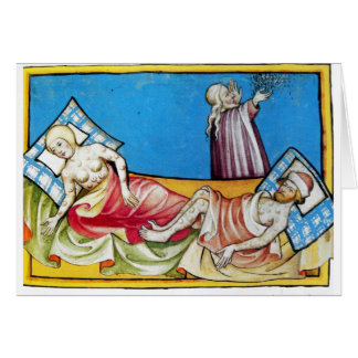 The Black Death from the Toggenburg Bible 1411 Card